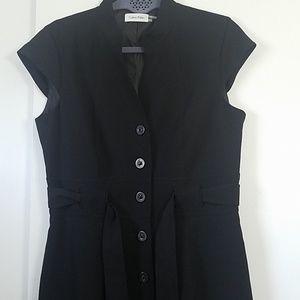 Calvin Klein Dresses - Calvin Klein Black Button Front Sheath Dress NWOT